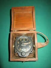 Vintage Kollsman Pressure Altimeter Indicator Vintage in Wooden Display Box