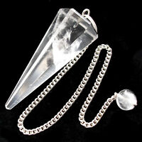 Clear Quartz Point Rock Crystal Dowsing Pendulum Amplify Store Focus & Transform