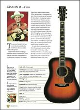 Gene Autry Martin D-45 + Neil Young D-28 acoustic guitar article with specs