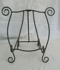 """Brown Wrought Iron Table Top Easel Picture Frame Display Holder 13"""" H x 15"""" W"""