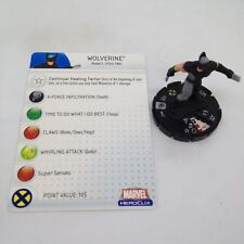 Heroclix Web of Spider-Man set Wolverine (X-Force) #043 Rare figure w/card!