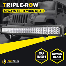 28INCH 1260W TRIPLE ROW LED Work Light Bar Offroad 4x4WD Truck SUV 30/31/32/36""
