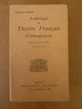 Anthologie du théâtre français contemporain - PELISSIER - ed. delagrave Pallas