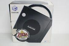 Nintendo Gamecube Black System W  Zelda Sticker on box Works (No Game)