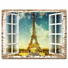 PP0613 French Window Paris Plate Chic Sign Shop Store Cafe Home Room Decor
