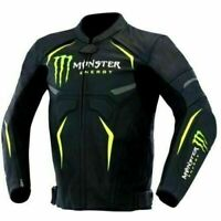 Monster Racing Biker Motorbike Leather Jacket Motorcycle Leather Jackets CE
