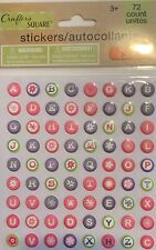 New ListingSticko Patterned Color Alpha Alphabet Letters Numbers Stars Scrapbook Stickers