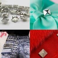 100pcs 8mm DIY Crafts Rivets Button Studs Decor Garment For Cloth Pant Hat H1X8