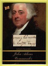 2020 Pieces of the Past ** JOHN ADAMS  HAND SCRIPT  PIECES RELIC ~~~W