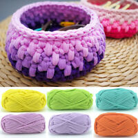 Soft Polyester Clothes T-Shirt Yarn Elastic Knitting Fabric for Bags Cushion DIY