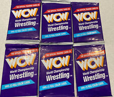 1991 WCW TRADING CARDS 6 packs Wrestling Trading Cards