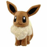 "7"" Brown Eevee Pokemon Plush Doll Toy Christmas Gift US Stock"