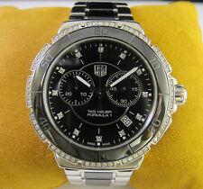 Tag Heuer Formula 1 Ceramic Chronograph Diamond Watch Stainless Steel CAH1212