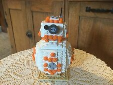 """BB 8.  Lego.  5"""".  On swivel stand with swivel head.  Made by inventor at Lego."""