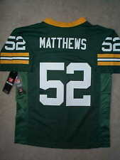 (2016-2017) Green Bay Packers CLAY MATTHEWS nfl Jersey YOUTH KIDS BOYS m-medium