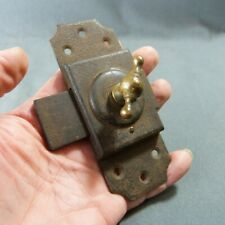 French Antique, Hardware Iron Slide. Bolt Latch Lock Country Rustic