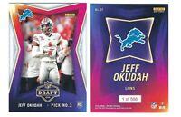 2020 Panini Instant NFL Draft RC Jeff Okudah ROOKIE Football Card Lions SP /566