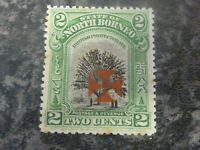 NORTH BORNEO POSTAGE & REVENUE STAMP SG203 2 CENTS LIGHTLY-MOUNTED MINT