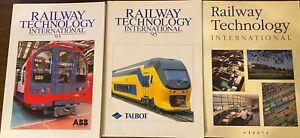 Railway Technology International  Lot of 3, 1993, 1995 and 1997