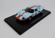 Ford GT40 Gulf #9 Winner Le Mans 1968 - 1/43 Spark Hachette Voiture Miniature 04