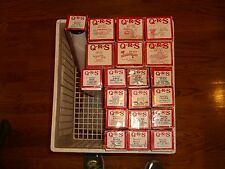 20 QRS PLAYER PIANO ROLLS & FREE Kimball Artist Spinet Electramatic Player PIANO