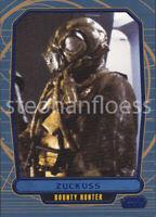 2012 Topps Star Wars Galactic Files Blue Parallel #138 Zuckuss 291/350