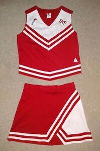 Real Authentic Rittman Ohio EYF Cheerleading Uniform Cheer Red White Chasse