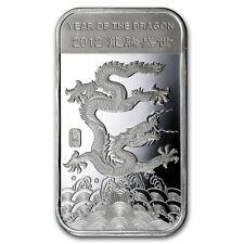 1 oz 999 Silver Silberbarren Lunar Jahr des Drachen Dragon 2012 NEU SELTEN !!!