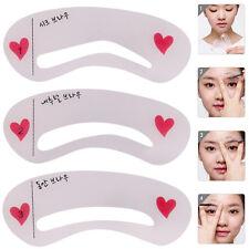 3 Pcs Eyebrow Shapes Stencils Shaper Grooming Brow MakeUp Template Tool Reusable