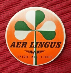 AER LINGUS / IRISH AIRLINES VINTAGE LABEL
