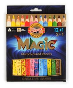 KOH-I-NOOR MAGIC Coloured Pencils Crayons Multi-color leads 3, 5, 12+1 or 23+1
