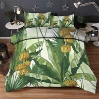 Large Green Leaves 3D Printing Duvet Quilt Doona Covers Pillow Case Bedding Sets