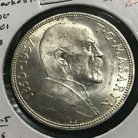 1937 CZECHOSLOVAKIA 20 KORUN BRILLIANT UNCIRCULATED COIN