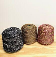 Yarn Lot - Three LARGE Cones - Machine Knitting, Weaving, Crochet 15+ POUNDS!!