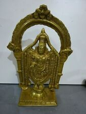 Brass Indian Hindu Tirupati Balaji Statue God Ritual Traditional