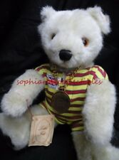 LITTLE FOLK~handmade in England  BEAR OURS tagged, plush fur, stitched nose SALE