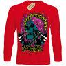 Anarchie T-Shirt Hache Crâne Biker Gothique Rock Métal Punk Squelette Mens Longs