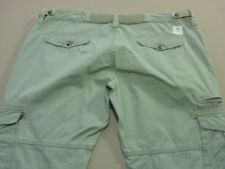128 WOMENS EX-COND RUSTY STR8 180 LIGHT KHAKI CARGO PANTS SZE 16 $100 RRP.
