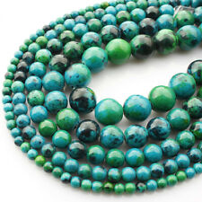 High Quality Natural Chrysocolla Gemstone Round Beads 16'' AAA+ 4mm-12mm