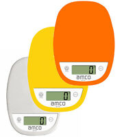 amco Digital Kitchen Scales 5kg/11lb Electronic Weighing Scales with LCD Display