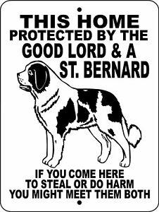 "0683 Saint Bernard 9""x12"" Aluminum Sign"