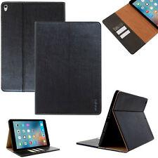 "Premium Leder Cover Apple iPad Pro 9.7"" Tablet Schutzhülle Case Tasche schwarz"