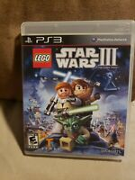 LEGO Star Wars III The Clone Wars Sony PlayStation 3 PS3 Complete FREE SHIPPING
