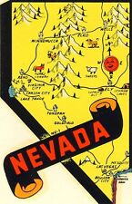 Vintage Travel Decal Replica Window Cling - Nevada