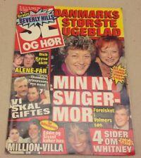 """Whitney Houston Many Photos Front Cover Vtg Danish Magazine 1993 """"Se og Hoer"""""""