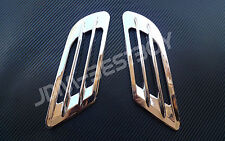 UNIVERSAL CHROME Euro Style Vent Car Side Air Flow Fender Duct Cover Trim #1
