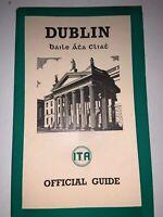 Vintage 1938 DUBLIN Irish Tourist Association Official Guide Book & Map