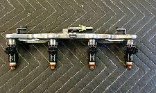 06-11 Honda Civic DX EX LX 1.8L SOHC R18A1 Set of 4 Fuel Injectors & Rail OEM
