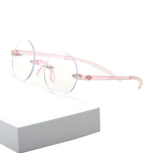 Women's  Flexible Round  Rimless Reading Glasses Coating Lens UV400 +0.00~+4.00