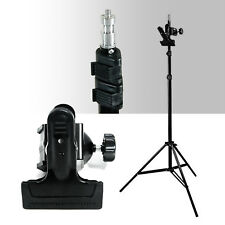 Photo Studio Photography Mount C-Clamp with Rubber Holder Clamp Light Stand